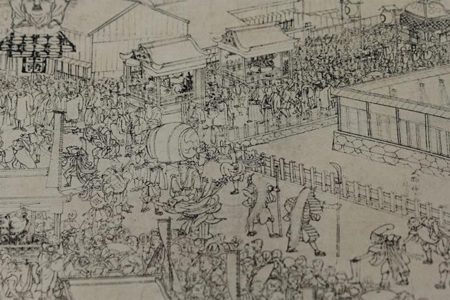 大倉まつりの芸能「相川十二月」より 相川郷土博物館蔵