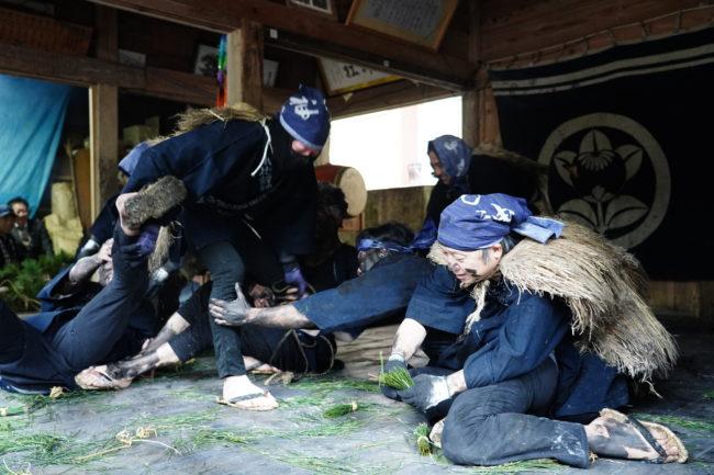 小比叡神社の田遊び神事